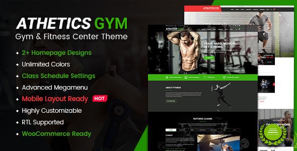 Athetics – Gym Fitness WordPress Theme (Mobile Layout Ready)