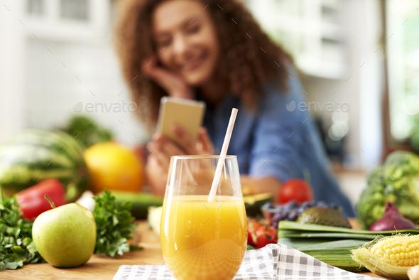 A glass of orange juice - Stock Photo - Images