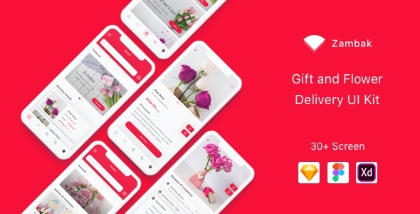 Zambak - Gift and Flower Delivery App UI Kit