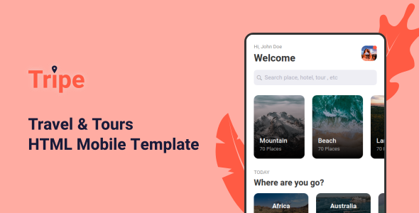 Tripe - Travel & Tour Mobile Template by aStylers
