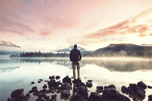 Lake in Oregon - Stock Photo - Images