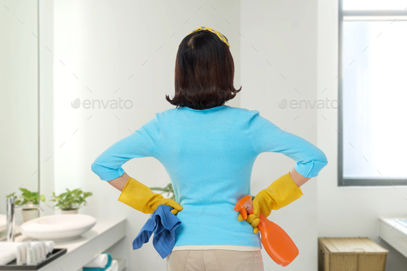 Enjoying Results of Spring Clean - Stock Photo - Images