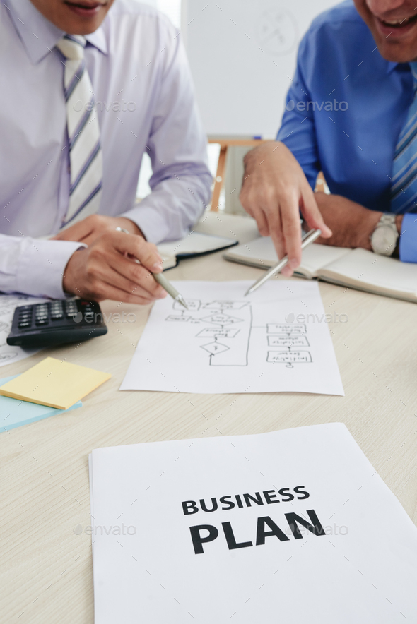 Discussing business plan - Stock Photo - Images