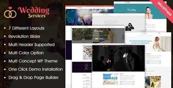 Wedding Services WordPress Theme