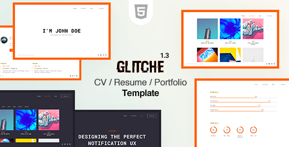 Glitche - Resume CV Template by beshleyua