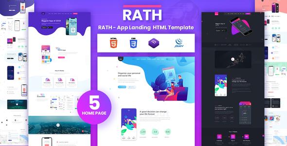 RATH - App Landing Onepage HTML Template