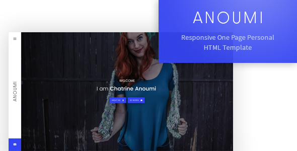 Anoumi - Responsive One Page Personal/CV/Portfolio Template