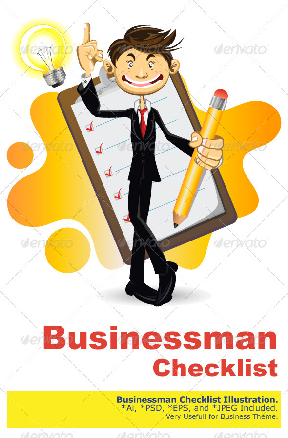 Smart Businessman Done With His Checklist - Concepts Business