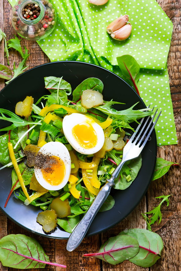 salad with eggs - Stock Photo - Images