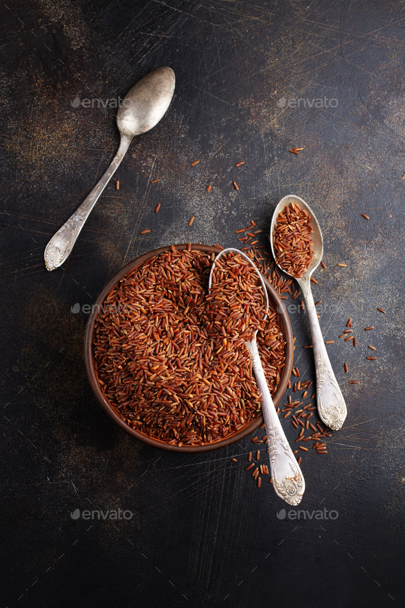 brown rice - Stock Photo - Images