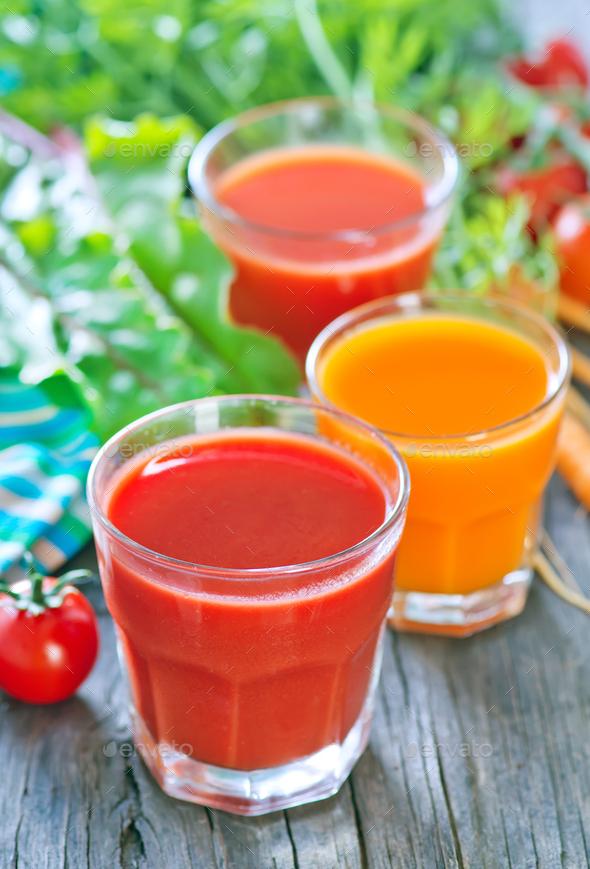 fresh vegetable juice - Stock Photo - Images