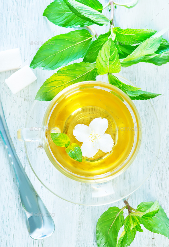 jasmin tea - Stock Photo - Images