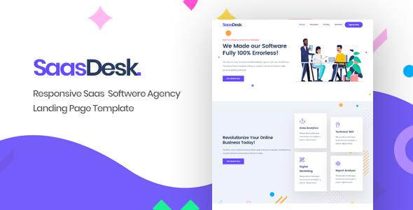 SaasDesk - Saas Startup HTML Template