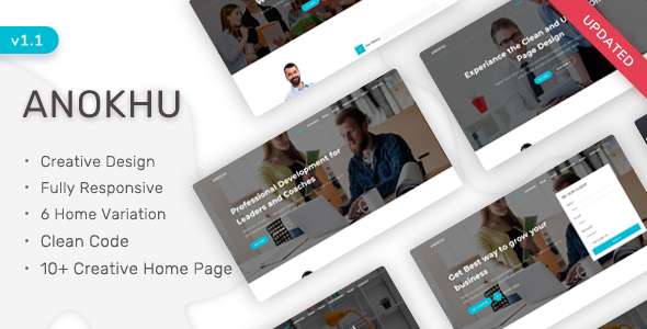 Anokhu - Responsive Landing Page Template by ShreeThemes