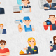 Occupations & Jobs Modern Flat Animated Icons - VideoHive Item for Sale