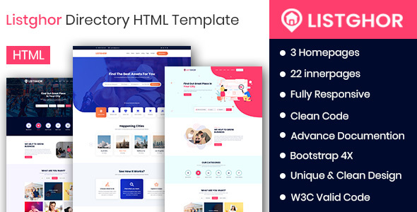 Listghor - Directory &  Listing HTML Template by CodeAstrology