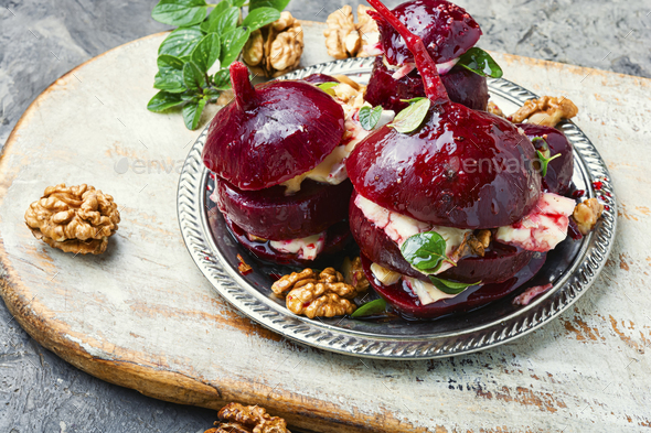 Appetizer of beetroot with cheese - Stock Photo - Images