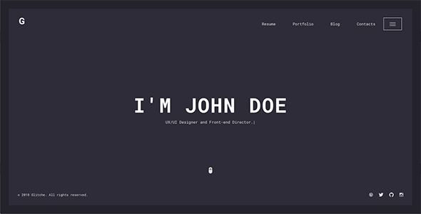 theme glitche wordpress
