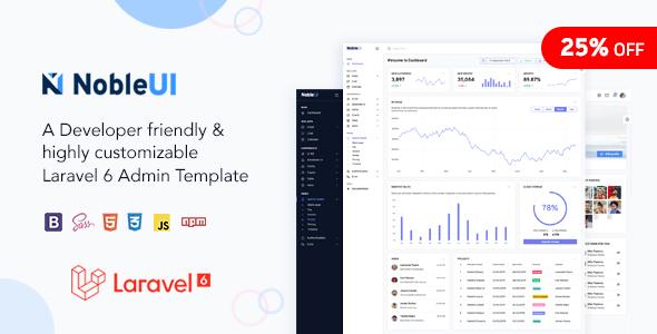 NobleUI - Laravel Admin Template by nobleui
