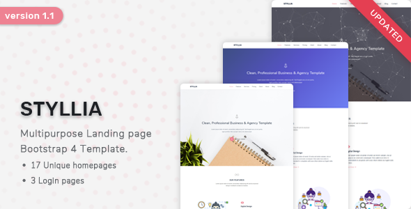 Styllia - Multipurpose Landing page Template by ShreeThemes