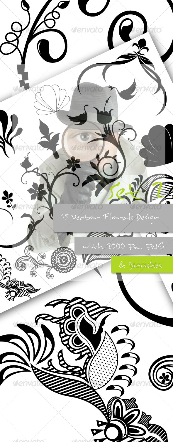 Flourish Vectors, Pictures and Brushes - Decorative Vectors