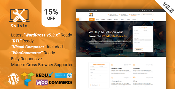 CoSolu | Multipurpose Servicing and Repairing WordPress Theme by themelooks