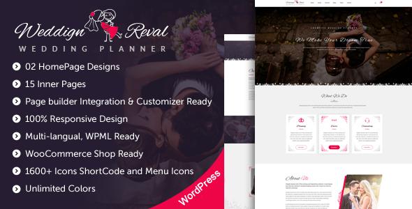 Wedding Reval - Planner & Agency WordPress Theme