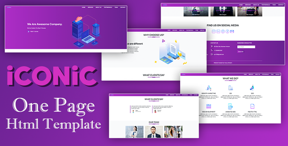 Iconic - One Page Html5 Css Bootstrap Responsive Template