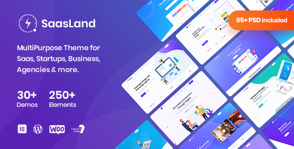 Saasland - MultiPurpose WordPress Theme for Startup Business