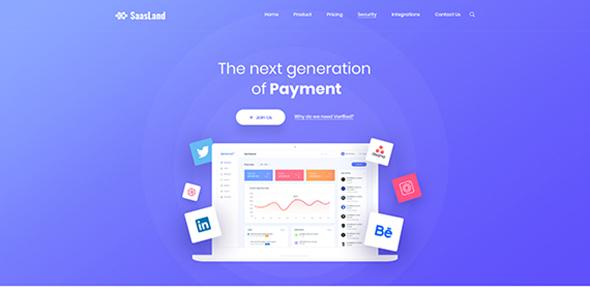 Saasland - MultiPurpose WordPress Theme for Startup by DroitThemes