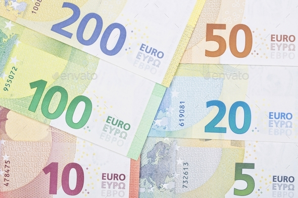 New series of european money a background - Stock Photo - Images