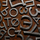 Assorted metal cyrillic letters on a rusty background - PhotoDune Item for Sale