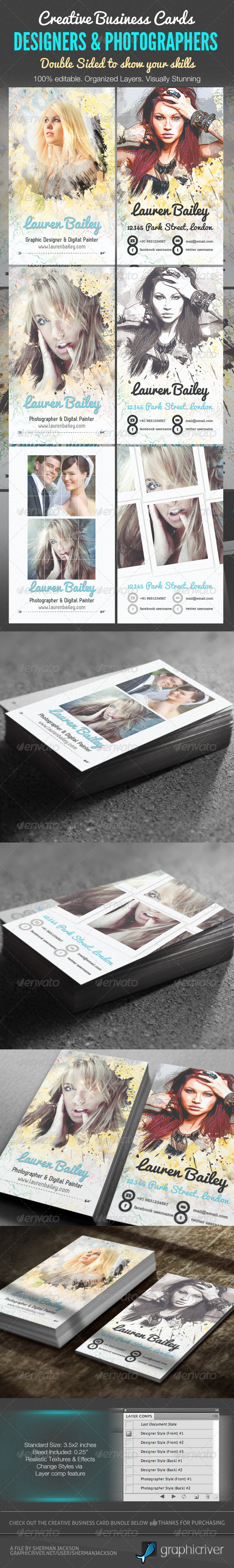 Creative Business Cards - Designer &Photographer - Creative Business Cards