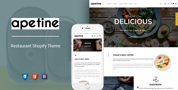 Apetine – Responsive Food & Restaurant Shopify