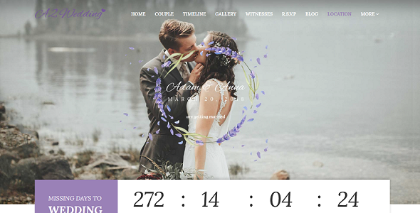 Wedding – Resonsive Event Joomla Template