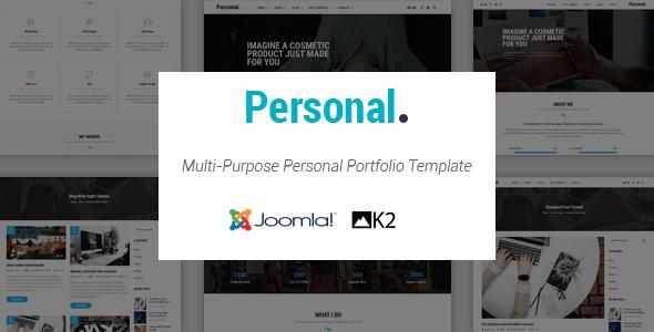 Personal – Responsive Multi-Purpose Portfolio Joomla Template With Page Builder