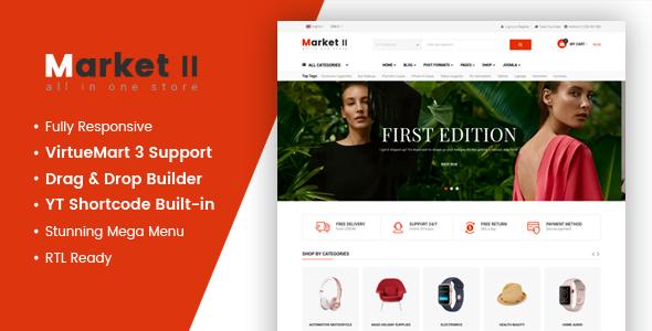 Market II – Multipurpose eCommerce VirtueMart 3 Joomla Template