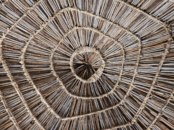 Roof of a house in Senegal, Africa - Stock Photo - Images