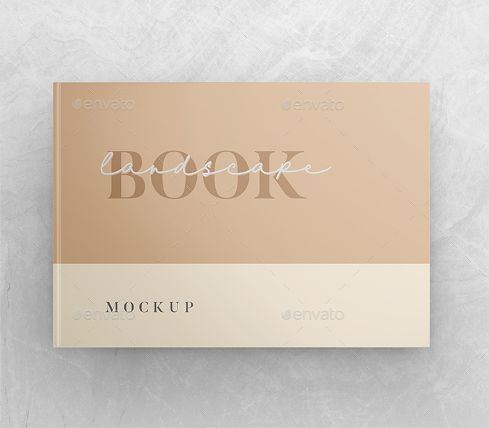Logo Mockup Design For Business With Shadow Overlay: Landscape Book Mockup By Leon_dsgn