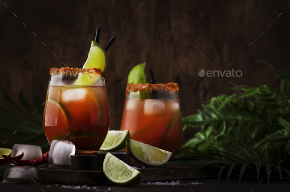 Michelada - Mexican alcoholic cocktail with beer - Stock Photo - Images
