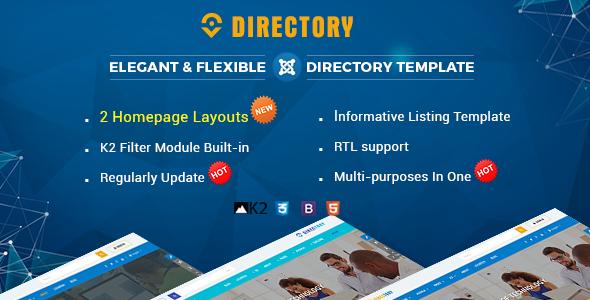Directory – Responsive Ultimate Listing Joomla Template