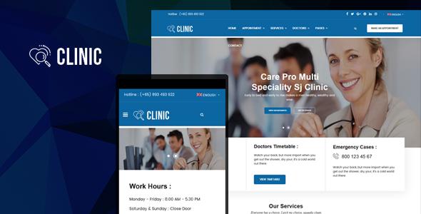 Clinic – Modern Medical & Healthcare Joomla Responsive Template
