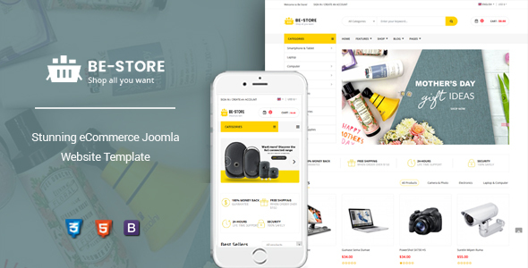 BeStore – Multipurpose Joomla eCommerce Template