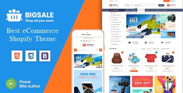 BigSale – The Clean, Minimal & Unlimited Bootstrap 4 Shopify Theme (12+ HomePages)