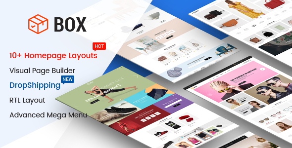 Box – The Clean, Minimal & Multipurpose Shopify Theme with Sections (10+ HomePages)