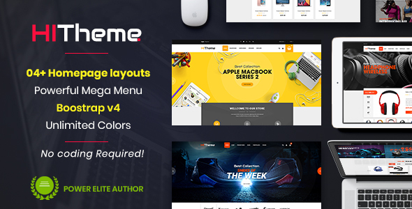 HiTheme - Responsive & Multipurpose Sectioned Bootstrap 4 Shopify Theme