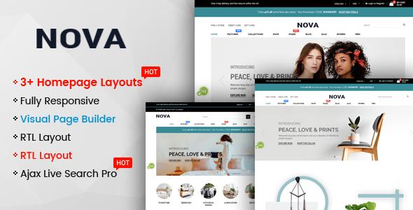 Nova - Multipurpose Drag & Drop Shopify Responsive Theme