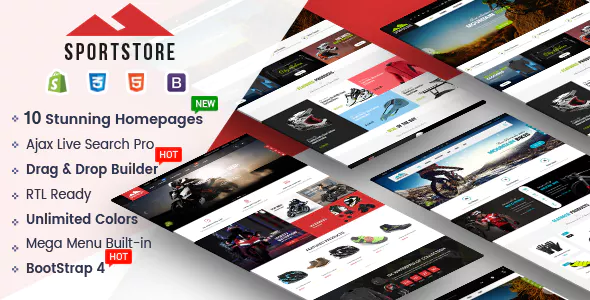 SportStore – Multipurpose Drag & Drop Sectioned Shopify Theme