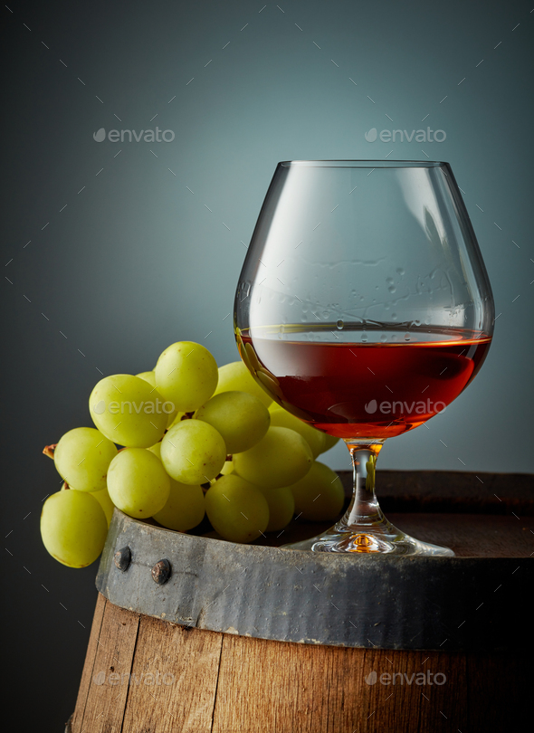 glass of cognac - Stock Photo - Images