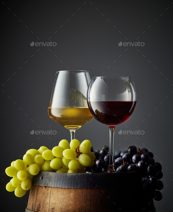 two glasses of wine - Stock Photo - Images